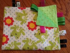 Ribbon Blanket Happy Frog's by BlanketsbySheryl on Etsy