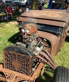 Rat Rods are cool, and I am here to give you of my 10 reasons why I love them Rat Rod Cars, Hot Rod Trucks, Rat Rods, Classic Hot Rod, Classic Cars, Cool Cars, Weird Cars, Bug Out Vehicle, Old Pickup Trucks