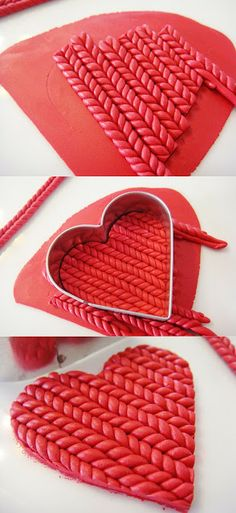 """Master-class """"Knitted pattern of polymer clay"""" - Fair Masters - handmade, handmade"""