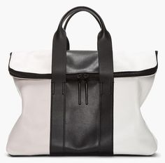 what-do-i-wear:  3.1 PHILLIP LIM // BLACK & WHITE TRICOLOR LEATHER 31 HOUR BAG