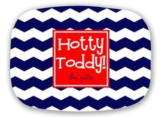 Hotty toddy personalize chevron melamine platter