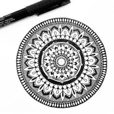Sorry for the slow posting, just came back from a vacation and will soon be heading off again for months but will try my best to post at every chance I get. Mandala Doodle, Mandala Art, Doodle Art, Zen Art, Mandala Design, Insta Art, Zentangle, Design Art, Arts And Crafts