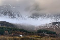Blaven Mists and Snow . Loch Slapin.Torrin. Isle of Skye. Scotland.