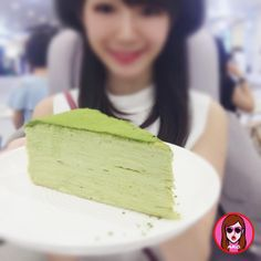 This is Matcha Pancakes.  Look at the layers!