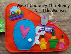 Home for a Bunny QUIET BOOK .PDF Pattern por LindyJDesign en Etsy