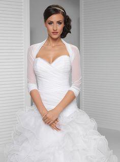 STA /% NEU /& TOP Chiffon Stola Bolero Brautstola Hochzeit in schwarz weiss creme