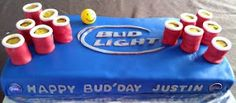 Beer pong Cake-cant wait until he turns 21 so i can get this for him! 21st Birthday Cake For Guys, 21st Birthday Gifts, 21 Birthday, Birthday Ideas, Beer Pong Cake, Beer Cakes, Cake Cookies, Cupcake Cakes, Cupcakes