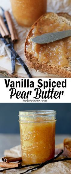 Vanilla Spiced Pear Butter - How to Can Pear Butter. This recipe is easy and has. CLICK Image for full details Vanilla Spiced Pear Butter - How to Can Pear Butter. This recipe is easy and has so much flavor & spice. Flavored Butter, Homemade Butter, Spiced Pear Butter Recipe, Zucchini Ravioli, Dips, Canned Pears, Vanilla Recipes, Pear Jelly Recipes, Healthy Recipes
