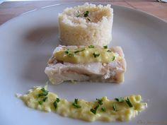 Cabillaud sauce yaourt.