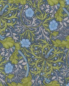 David V&A William Morris Daisies Vines Gray Blue $10/yd -- for table runners under blue mason jars?