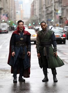 Benedict Cumberbatch and Chiwetel Ejiofor in Doctor Strange (2016)