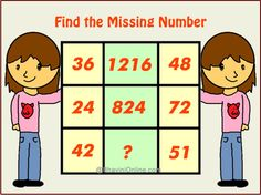 find missing number 1216 36 48