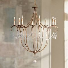 """Currey and Company Crystal 8-Light 31"""" Wide Chandelier - #X9681 