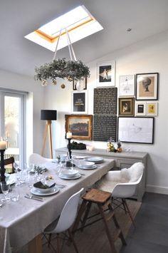 Weihnachtsdeko esszimmer kranz aufhängen mistelzweige tischdeko weiß