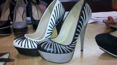 From L.A.M.B. - Contrast Pumps....I love this look, I hope it catches on!