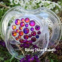 Fire and Ice Bling Pacifier on Clearance!! $12