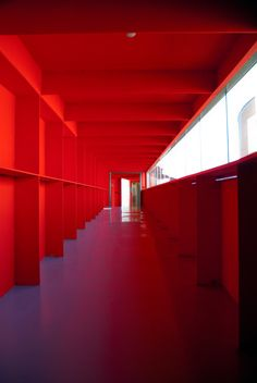 Red corridor by Berni Beudel, via 500px