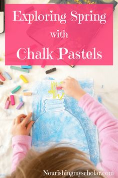Exploring Spring with Chalk Pastels: Today, I'm sharing a new art course we recently enjoyed. Just in case you're needing a spring boost too! Spring Crafts For Kids, Projects For Kids, Art For Kids, Spring Activities, Activities For Kids, Art Curriculum, Spring Art, Fun Learning, Learning Activities