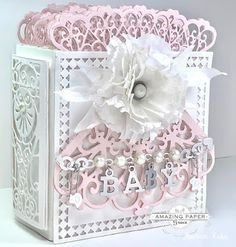 Cardmaking, Scrapbooking, and beautiful Paper Craft projects designed by America Kuhn. 90th Birthday Cards, Birthday Card Design, Baby Girl Scrapbook, Mini Scrapbook Albums, Mini Photo Albums, Mini Albums, Album Maker, Baby Mini Album, Girls Album