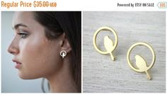 2016 SALE Bird in a Nest Post Earrings minimalist by shlomitofir