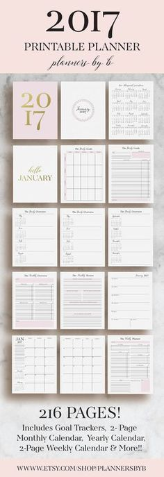 Planner Printable  Monthly Planner  Weekly Planner