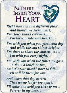 I'm There Inside Your Heart Prayer Cards - Pkg of 25 Miss Mom, Miss You Dad, The Words, For Elise, After Life, Prayer Cards, My Guy, In This World, Favorite Quotes