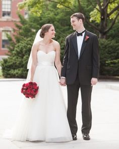 """See the """"The Fashions"""" in our A Modern, Colorful Red and White DIY Wedding in Boston gallery"""