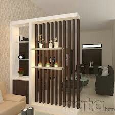 Add Dowels Or Cross Pins To Make Adjustable Integrated Shelf Living Room Partition Wall