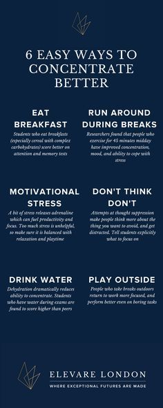 Personal development - 6 ways to help you concentrate more effectively. Self Development, Personal Development, Life Skills, Life Lessons, Coping With Stress, Study Tips, Self Improvement, Self Help, Good To Know