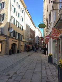 Linzergasse (shopping street) - Salzburg, Austria