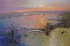 Sunrise over the Camel Estuary by Peter Wileman PROI RSMA EAGMA FRSA