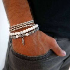 The Effective Pictures We Offer You About DIY Beaded Bracelet patterns A quality picture can tell you many things. Bracelets For Boyfriend, Boyfriend Gifts, Bracelets For Men, Boyfriend Necklace, Men's Fashion Jewelry, Fashion Bracelets, Men's Jewelry, Male Jewelry, Beaded Jewelry