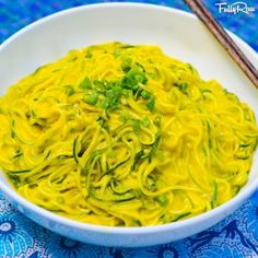 Vegan Mango Avocado Noodle Salad!  Ingredients: 5-7 zucchinis 4-5 mangoes 3-4 green onion tops 1 Tbs. fresh rosemary 1/3 an avocado     Directions: Spiralize your zucchinis and place them in a bowl. Then, blend the rest of the ingredients and pour the mango dressing over your noodles. Mix in together and top with some green onions or chives. Enjoy this amazing dish!