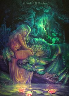 "Avalon Camelot King Arthur:  ""Lady of the Lake,"" by PerlaMarina, at deviantART."