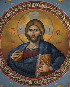 Christ Pantocrator, Byzantine Icons, Orthodox Christianity, Lord And Savior, Orthodox Icons, Religious Art, Christian Faith, Virgin Mary, Fresco