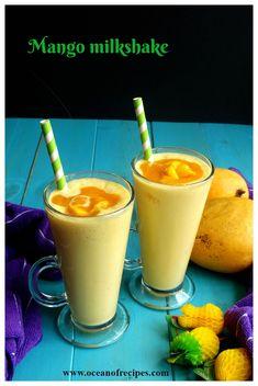 Mango milkshake Sweets Recipes, Indian Food Recipes, Desserts, Sheer Khurma, Mango Milkshake, Mumbai Street Food, Falooda, Mango Ice Cream, Pav Bhaji