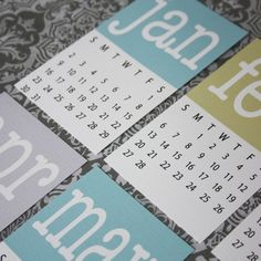 Printable Mini Calendar Pastel 2012 by printyourparty on Etsy