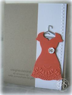 This could be made into a cute graduation day card... use a silhouette of the girl's dress!