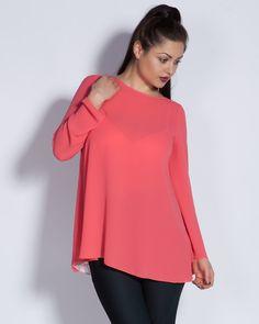 Дамска туника в розово - Lory #Efrea #Ефреа #online #онлайн #пазаруване #дрехи #туника #розово #жоржет #дантела