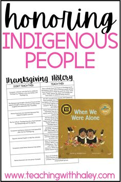 Honoring indigenous people leading up to Thanksgiving and all year long by Haley O'Connor. I wanted to share two simple ways you can honor Indigenous people during November and all year long. 1. Learn the different ways you can share the true history of Native Americans and European settlers. And 2. Share read-alouds about Native American culture. Which I found on Amazon. I also tried to choose books written by native voices. Read more about these Thanksgiving activities kids can do in Fall.