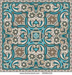 Ceramic Accent Tile - Home Decor - Backsplash Tile - Ethnic Designs Tile 04 Islamic Art Pattern, Mandala Pattern, Mandala Design, Pattern Art, Zentangle, Paisley, Tile Art, Tiles, Tile Painting