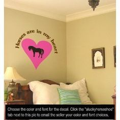 Vinyl wall horse decal-Horse quote sticker-36 X 37 inches-by aluckyhorseshoe by aluckyhorseshoe, http://www.amazon.com/dp/B005EOP3WW/ref=cm_sw_r_pi_dp_I4TRqb0HKW1TK