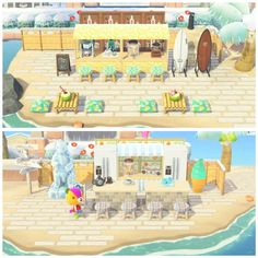 Pretty happy with how my beach turns out :) - AnimalCrossing