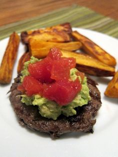 looks yummy!!!  guac, rotel and burger