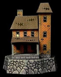 images about Halloween and haunted paper models