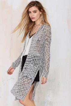 Party Cardi Long Knit Cardigan - Stay warm, party people!