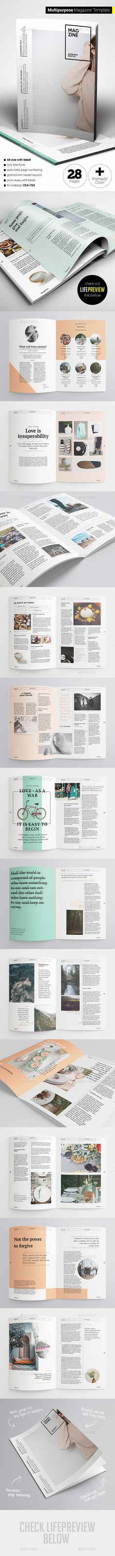 Multipurpose Magazine 28 Pages Template InDesign INDD #design Download…
