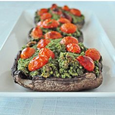 Roasted Pesto Portobellos