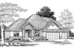 Eplans Traditional House Plan - Four Bedroom Traditional - 3234 Square Feet and 4 Bedrooms from Eplans - House Plan Code HWEPL64489- 2 BEDROOM MAIN LEVEL