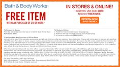 Bath & Body Works coupons & Bath & Body Works promo code inside The Coupons App. off at Bath & Body Works, or online via promo code BESTSUMMER March Bath Body Works Coupon, Online Signature, Free Printable Coupons, Store Coupons, Bath And Bodyworks, Free Items, Body Care, It Works, App